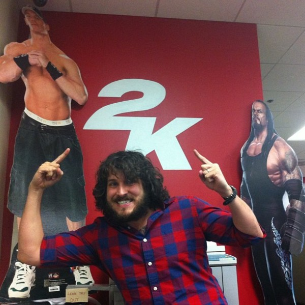 Hanging at the new WWE Games Dojo!